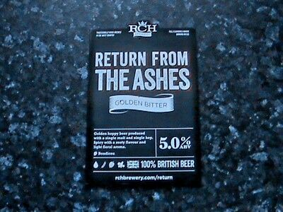 Rch Return From The Ashes Beer Pump Clip Sign