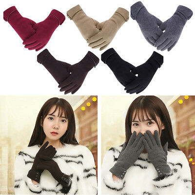 Womens Winter Gloves Smartphone Touch Screen Lined Thick Mittens Hand Warmer AU