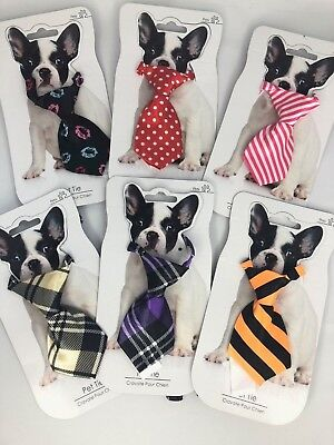 Pet Tie adjustable neck tie animal dog various colours gift new pets dress up