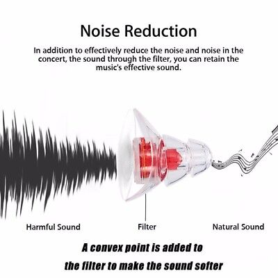 Ear Plugs Noise Reduction Canceling Hearing Protector Concert Music Sleep TOP
