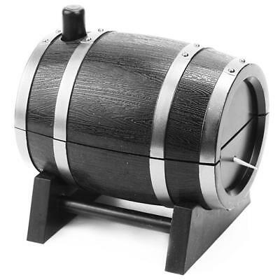 Ebony Wood Toothpick Holder Bucket Mini Box Portable Craft Wine Barrel St.FN