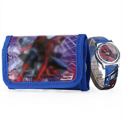 Spiderman Children's Watch Wallet Set For Kids Boys Girls Christmas Gifts