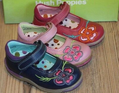 Hush Puppies Girls Harlequin Leather Shoes Various Sizes /& Colours BNIB