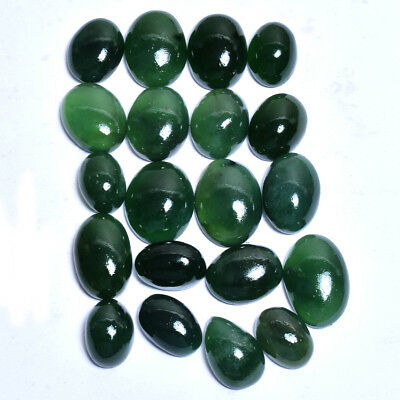 455 Cts/20 Pcs 100% Natural Untreated Green Serpentine Cabochon Gemstones Lot