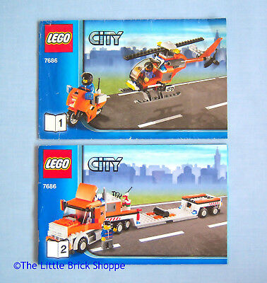 Lego City 7686 Helicopter Transporter Instruction Book 1 2 Only