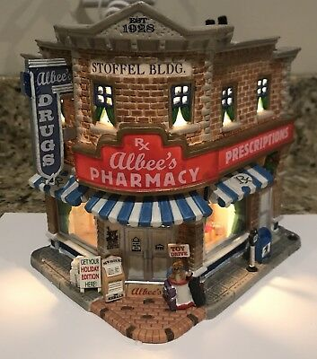 Lemax Albee's Pharmacy Harvest Crossing 2007 Lighted Building #75516 Christmas