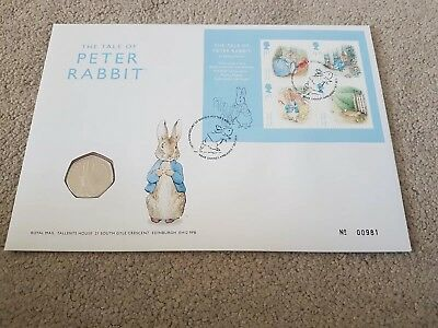 2016 Beatrix Potter 150th Anniversary 50p PNC  First Day Cover
