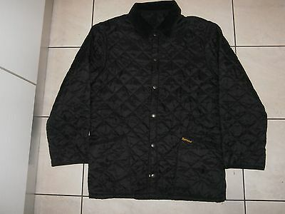barbour liddesdale quilted  jacket coat black color 100%authentic  XS