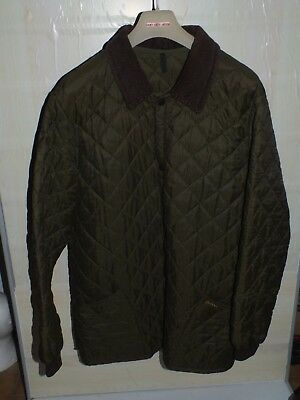 barbour  quilted  jacket coat green color 100%authentic  xxl