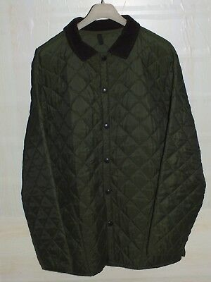 barbour  quilted  jacket coat green color 100%authentic  xl