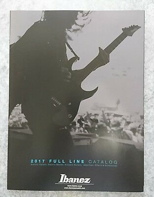 Ibanez 2017 FULL LINE CATALOG New F/S w/Tracking Number From Japan