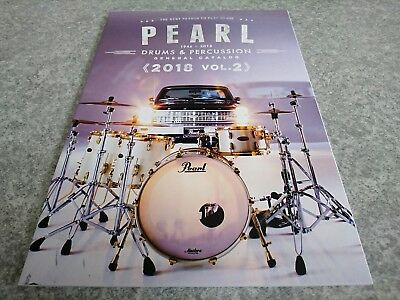 PEARL Drums Percussion GENERAL CATALOG 2018 Vol.2 New F/S From Japan