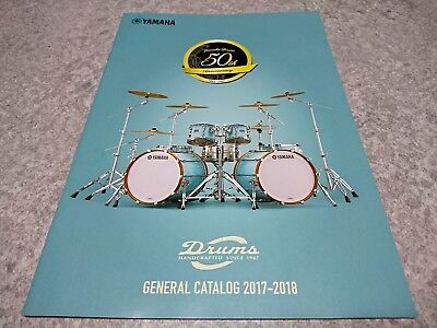 YAMAHA DRUMS 2017-2018 GENERAL CATALOG New F/S From Japan