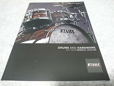 TAMA Drums and Hardware  2017-2018 GENERAL CATALOG New F/S From Japan