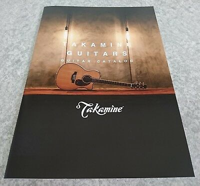 TAKAMINE GUITARS Latest catalog New w/Tracking Number F/S From Japan