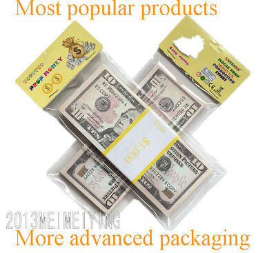 $10 Copy Prop Money Fake Replica Play game prop $1000 Stack For Movies,GIFT
