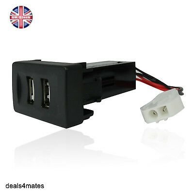 Vw Transporter T4 In Dash Dashboard Panel Dual Usb Port Charger Power Outlet 12v