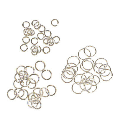 60x 3mm 4mm 6mm Sterling Silver Open Jump Rings Jewelry Finding Good Quality