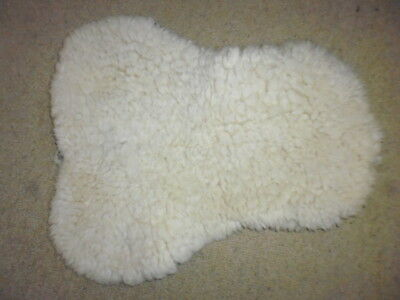 Mattes Gold Woolpile Saddle Seat Cover Saver natural size full