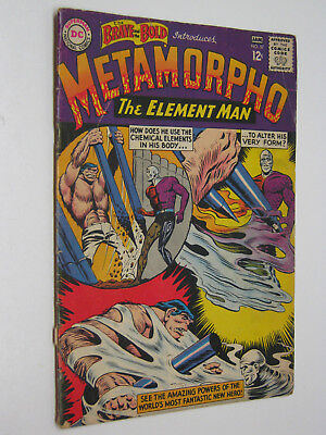 Brave& Bold 57 Metamorpho DC 1964 Silver Age Comic Book Low/Fair Grade