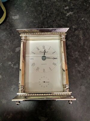 Churchill Quartz Solid Brass Vintage Carriage Clock With Second Hand ,no Handle