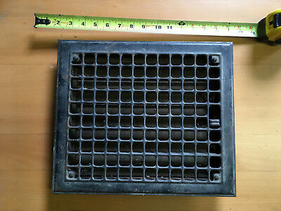 Vintage Floor Vent Register. 1930. Good condition. Adjustabler doors.