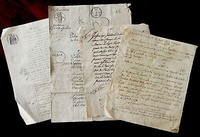 Collection of FOUR 1800s Old Historical Letters