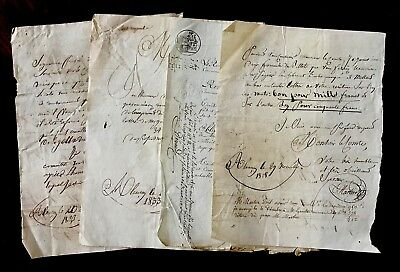 1800s Lot of FOUR Original handwritten and autographed documents