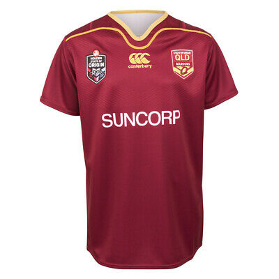 Queensland Maroons State of Origin Kids On Field Jersey Sizes 6-14 BNWT