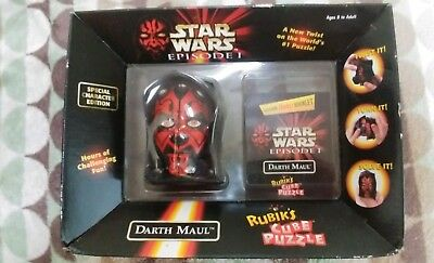 Hasbro Star Wars: Episode 1 DARTH MAUL Rubik's Cube Puzzle 1999 NIB
