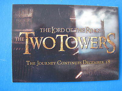 LORD of the RINGS 5 SETS LOTR CADBURY Two Towers TTT 20 Promo Cards C1-20 2002