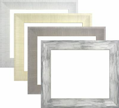 White Cream Grey Charcoal Picture Photo Poster frame A1 A2 A3 A4 Large Square
