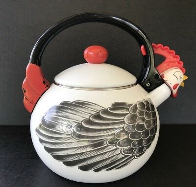 Vintage Kamenstein Whistling Chicken Hen Tea Kettle