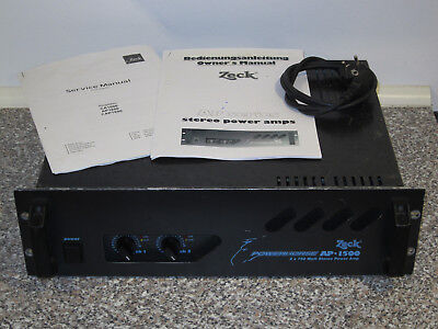 ZECK AP-1500 Powerhorse Stereo PA Endstufe 2 x 750W - Qualität. Made in Germany.