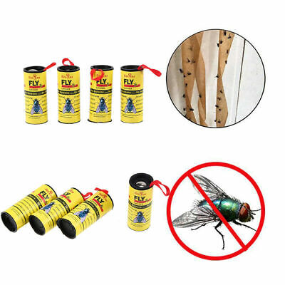 4/8/12 Rolls FLY Mosquitoes Killer Glue Paper Catcher Sticker Tape Insect trap
