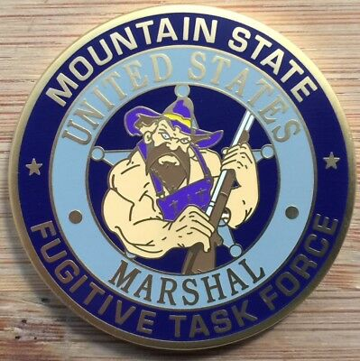 """US Marshals Service-Northern District of WV """"Cranky Hillbilly"""" FC challenge coin"""
