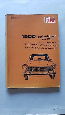 Fiat 1500 Cabriolet 1965 catalogo ricambi motore originale parts catalogue