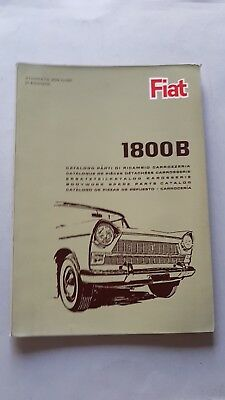 Fiat 1800 B 1965 catalogo ricambi motore originale parts catalogue