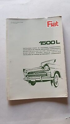 Fiat 1500 L 1965 catalogo ricambi motore originale parts catalogue