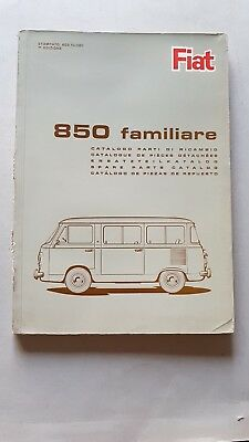 Fiat 850 Familiare 1965 catalogo ricambi motore originale parts catalogue