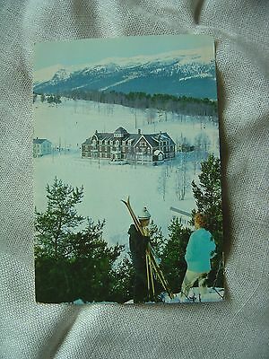 Postcard Norway Gudbrandsdal Valley 1966  Ski Lodge + Mountains Posted Dombas