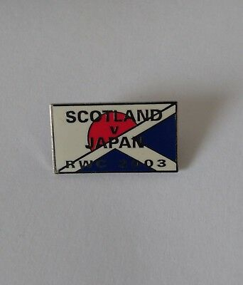 1 pin's pins pin Brooch RUGBY coupe du monde 2003 Ecosse Japon Scotland Vs Japan