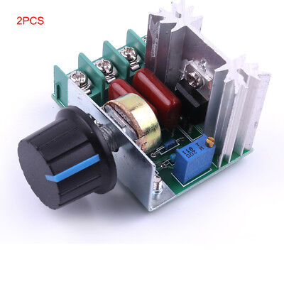 2x 50~220 V 2000W PWM AC Stepper Motor Speed Controller Knob tb6560/6600 CNC Kit