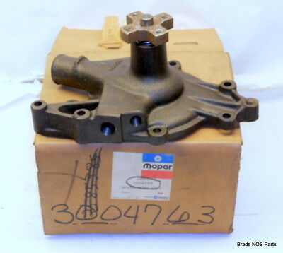 NOS MoPar 1964-1969 Plymouth Cuda Dodge Dart 273/318/340 V8 WATER PUMP 3004763