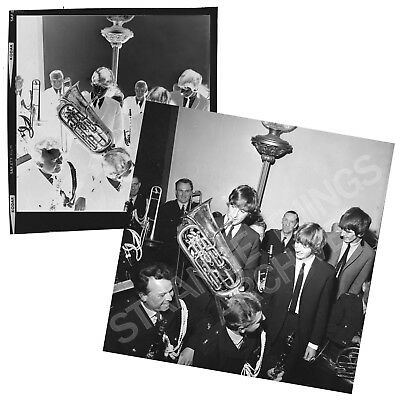 Original and Unseen BEATLES B&W Negative - Reception Liverpool Town Hall 1964