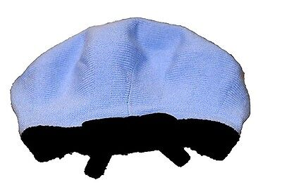 Kate Spade Contrast Bow Beret Lady Blue   Black Acrylic Wool Winter Hat NEW ad7e2d98cf4
