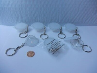 Lot of 7 Vintage Tupperware prisms bowl keychain set.  New      Free S/H