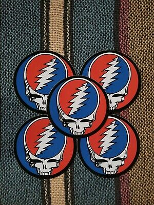 5 Grateful Dead Steal Your Face Stickers. 3 Inch.