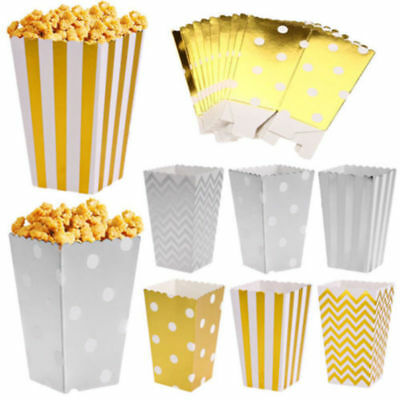 50 Popcorn Treat Box Boxes Bags Candy Container Wedding Favour