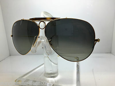23d744147b New Ray Ban Sunglasses RB 3138 181 71 62MM SHOOTER RB3138 GOLD GRADIENT LENS